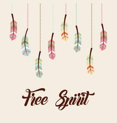 Free spirit flat vector