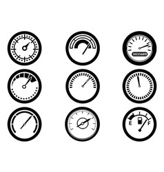 Gauge icons vector