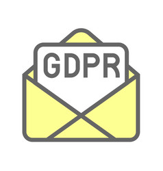 gdpr general data protection regulation icon vector image