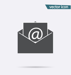 gray mail icon isolated on background modern flat vector image