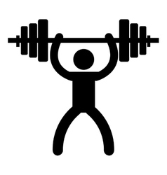 Gym and fitness lifestyle isolated icon vector image