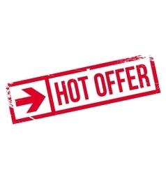 Hot offer stamp vector