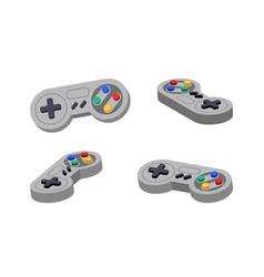 Joystick set different angles gamepad console vector