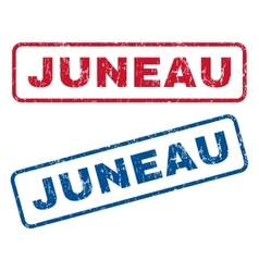 Juneau Rubber Stamps vector image