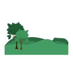 Landscape with mountains and trees vector