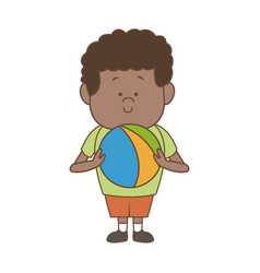 little boy character people cartoon vector image