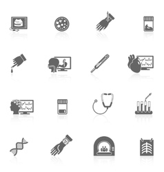 Medical tests icons black vector
