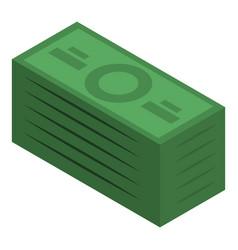 money pack icon isometric style vector image