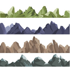 mountains pattern rock hills volcano climbing vector image