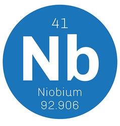 Niobium chemical element vector image