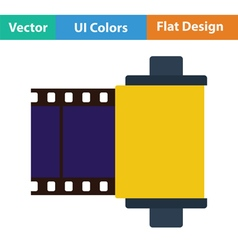 Photo cartridge reel icon vector
