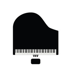 piano with chair in black vector image