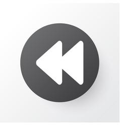 Rewind icon symbol premium quality isolated vector