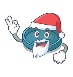Santa ashtray mascot cartoon style vector