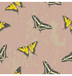 seamless texture with butterflies vector image