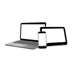 set modern gadgets vector image