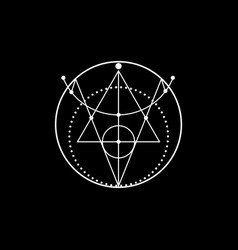 Sigil protection wiccan magical amulets sign vector
