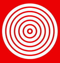 simple easy to print target mark with bullseye vector image