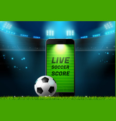 Soccer football mobile live scoreboard vector