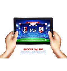 soccer online broadcast vector image