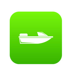 sports powerboat icon digital green vector image
