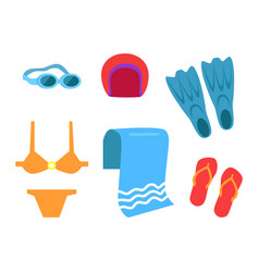 Swimming equipment icon cartoon style vector