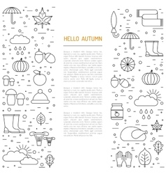 Template of autumn vector image