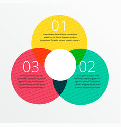 three steps infographic design with space for vector image