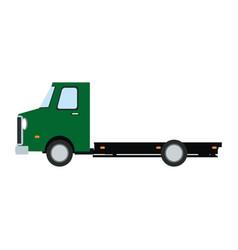 truck cabin trailer transport wheels motor vector image