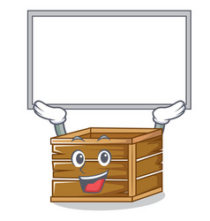 Up board crate character cartoon style vector