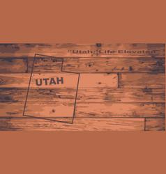 Utah map brand vector