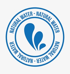 water label vector image