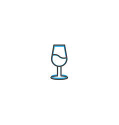 wine glass icon design lifestyle icon vector image