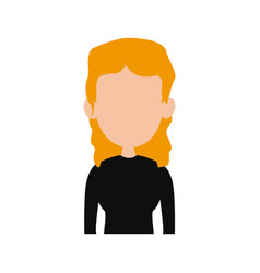 Woman profile icon avatar style female portrait vector