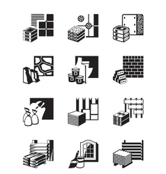 Construction materials and building details vector