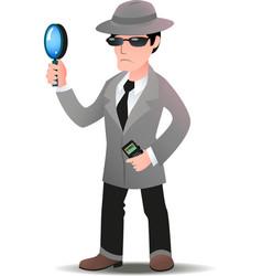 Mystery shopper man in spy coat vector image vector image