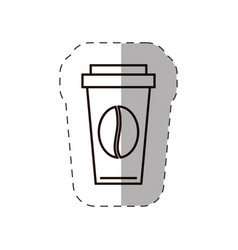 Paper coffee cup bean disposable vector