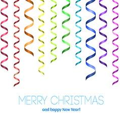 Rainbow serpentine pattern for congratulation vector