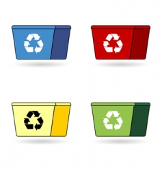recycling trash boxes vector image