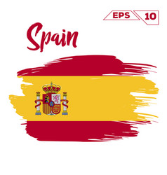 spain flag brush strokes painted vector image
