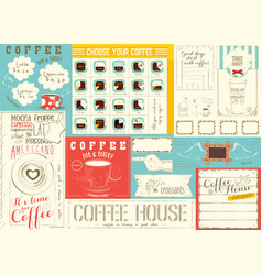 coffee menu placemat template vector image vector image