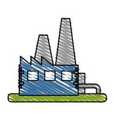 Color crayon stripe image building industrial vector