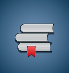 Icon stack of books vector image