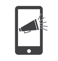 mobile marketing icon on white background vector image