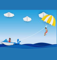 parachute vector image vector image