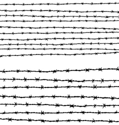 Barbed wire horizontally vector image vector image