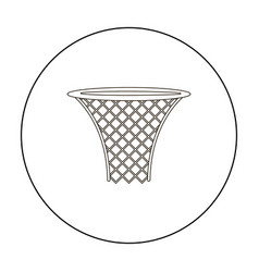 basketball hoop icon outline single sport icon vector image