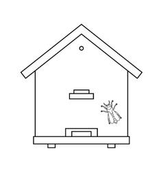 bee beehive outline vector image