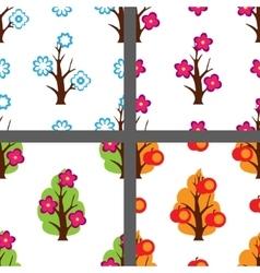 Four season pattern set vector