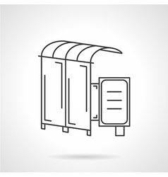 icon for bus station vector image vector image